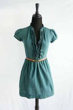 Urban Outfitters Evergreen Cap Sleeve Ruffle Dress - $35 for sale in my #threadflip closet! #springoutfit #urbanoutfitters