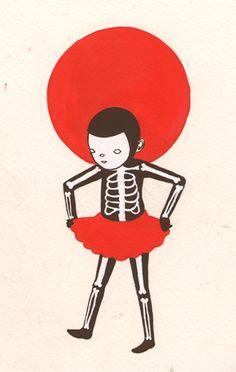 skeleton suit by wool and water, via Flickr