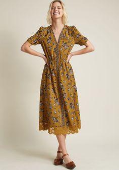 Alluring Atmosphere Midi Dress, #ModCloth