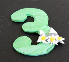 handmade door number, mountain door number, mountains polymer clay, edelweiss polymer clay, custom door number, mountains theme polymer clay