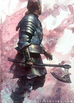 Knight by Chris Casciano on ArtStation. Lord Of War, Game Of Thrones Art, Fire Art, Medieval Knight, Fantasy Armor, Skyfall, Dark Souls, Best Artist, Champion
