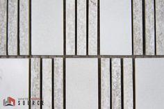 Polished Bianco Sivec Extra & Woodengrey Pier Mosaic (THW-023)  www.whitemarblesource.com #WhiteMarbleSource #white #marble #mosaics #tiles #stone #naturalstone #interiorfinishes #interiordesign #art #architecture #design #projects #ideas #luxury #materials #biancosivec #backsplash #whitetiles #inspirational