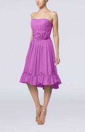 Orchid Vintage A-line Sweetheart Sleeveless Knee Length Bridesmaid Dresses