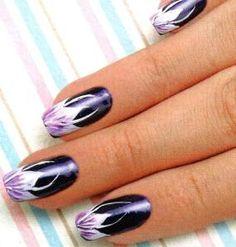 unha-decorada-floral-nail-art1.jpg (285×299)