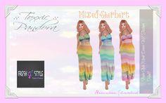::Toxxic:: Pandora - Mixed Sherbert Mesh Dress (Hud) maps.secondlife.com/secondlife/Coast/181/172/27