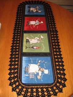 Aunt Roo's Chef's Daily Special fabric table runner by auntroo, $30.00