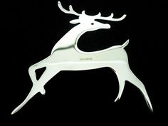 Silver Rudolph Reindeer Christmas Tree Decoration, Sterling, XMAS, Ornament, Festive, Hallmarked, SCOTTISH