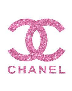 A4 8.5 x 11 Chanel in Pink glitter Digital by hellomrmoon on Etsy