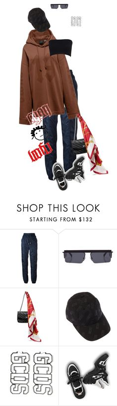 """STFU"" by styledbyry ❤ liked on Polyvore featuring Versus, Le Specs, Puma and Balenciaga"