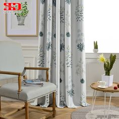 Us 310 Modern Children Blackout Curtains For Living Room Kids Bedroom Jacquard Rustic Drapes Grey Window Leaf Kitchen Shading 75 Panel In Curtains Bedroom Blinds, Living Room Bedroom, Kids Bedroom, Room Kids, Grey Windows, Blinds For Windows, Window Panels, U Shaped Kitchen Cabinets, Kitchen Shades