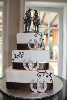 Sophisticated western-themed wedding cake rockwallchapel.com