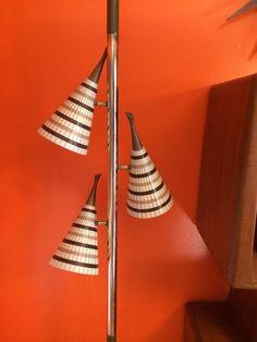 Rare Spectacular Mid Century Vintage RETRO Pole Lamp