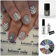 Grey and White inspired nails