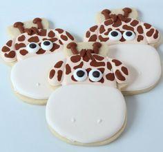 such cute giraffe face cookies