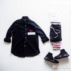 Hype Clothing, Fashion Killa, Fashion Trends, Trendy Outfits, Black Outfits, Outfit Grid, Raf Simons, Streetwear Fashion, Tees