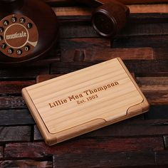 Standard business card holder Standard size, Bamboo We ship engraved, personalized gift orders within 7-10 business days (excluding holidays and our regularly scheduled site and inventory maintenance