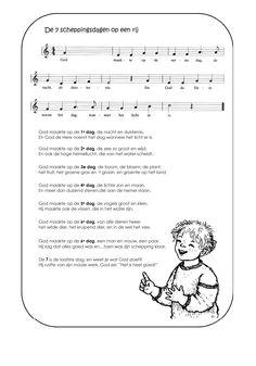 lied bij de 7 scheppingsdagen  www.bijbelidee.nl
