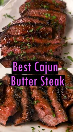 Best Cajun Butter Steak - Dessert & Cake Recipes Source by Cajun Steak Recipe, Good Steak Recipes, Steak Marinade Recipes, Grilled Steak Recipes, Cajun Recipes, Grilled Meat, Grilling Recipes, Meat Recipes, Cooking Recipes