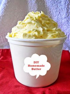 How To Make Butter At Home, Homemade Butter is so easy to make at home and you save money too..... step by step picture tutorial.