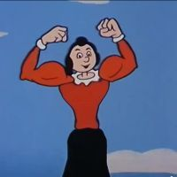 Olive Oyl Muscles | Olive Oyl Spinach Muscles in Hamburgers Away by luvfemuscle