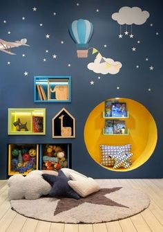 Kid's bedrooms! Decorate it like a pro. Inspirational images for your kids room - artistic wall papers