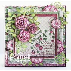 Heartfelt Creations - Wonderful Fuchsia Blooms Project