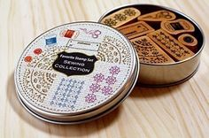 Sewing collection in a can  Favorite stamp set by karaku on Etsy, ¥1650