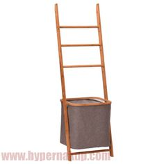 Stojan, prírodný bambus/sivá, VOLVER Ladder Decor, Nature, Home Decor, Products, Naturaleza, Decoration Home, Room Decor, Nature Illustration, Home Interior Design