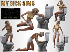 My Sick Sims! - Pose Pack ! by Joanne Bernice
