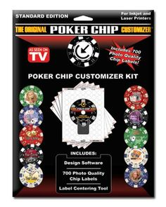 Includes 700 Labels, Software and Placement Tool 700 Photo Quality Chip Labels Design Software Label Centering Tool Sticker labels are an inch in diameter Custom Poker Chips, Free Facebook, Laser Printer, Photo Quality, Label Design, Fundraising, Create Your Own, Best Gifts, Clip Art