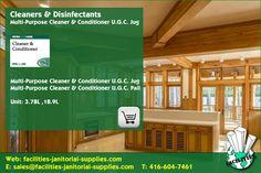 Toronto Distributor | Cleaners & Disinfectants: Multi-Purpose Cleaner & Conditioner U.G.C. Jug