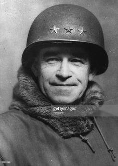 General Omar Nelson Bradley (1893 - 1981), American hero of the Allied landings in France.