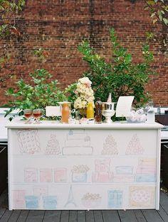 La Tavola Fine Linen Rental: Maryann Pink | Photography: Bonnie Sen ...