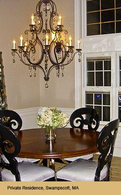 Crystal Chandelier in dining room