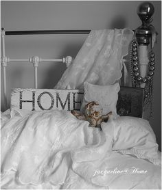 lace, victorian bed, home,