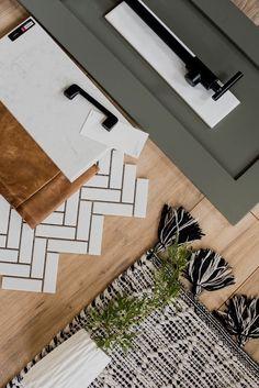 Modern Classic Kitchen Design Plans - Lemon Thistle - - Today I'm sharing our modern classic Kitchen Design Plans! From the new floor plan to the design choices including grey green cabinets and black accents. Layout Design, Küchen Design, Home Design, Design Ideas, Design Trends, Design Homes, Design Room, Design Studio, Interior Design Boards