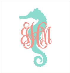 Seahorse Monogram Decal Preppy Nautical Car Decal Personalized Decal Car Decal Everything Else This decal would be perfect for any preppy or Vine Monogram, Monogram Shirts, Monogram Decal, Monogram Design, Vinyl Shirts, Vinyl Crafts, Vinyl Projects, Car Decals, Vinyl Decals