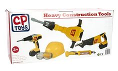 Constructive Playthings - Heavy Construction Tools - For Pretend Play - With Sound Effects and Motions - Teaches Responsibility - 14 Piece Constructive Playthings http://www.amazon.com/dp/B00NEF961C/ref=cm_sw_r_pi_dp_068zwb1QH55Q9