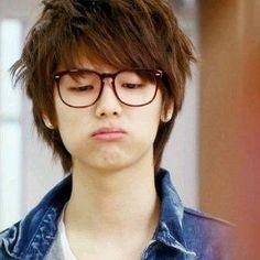 His cute face! Btob Changsub, Minhyuk, Lee Hyun Woo, Choi Jin, Kang Min Hyuk, Cn Blue, Krystal Jung, Super Junior Donghae, Anime Love Couple