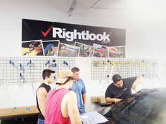 Here is a shot from this week's Window Tinting Class. Students learn both hand cutting and computer cut tinting techniques. To learn more about the many auto detailing classes offered at Rightlook, visit www.rightlook.com