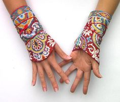 Style Boho, Wrist Warmers, Fingerless Gloves, Creations, Bohemian, Etsy, Fashion, Arm Cuffs, Russia
