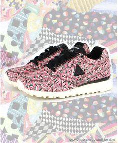8ad22287cb2713 Le Coq Sportif x Jazmin Berakha geometric sneakers Collaboration