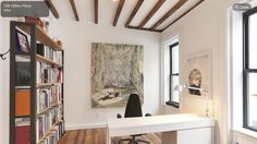 109 clifton pl  one room w exposed beams   looks v nice w crisp white walls and modern accents