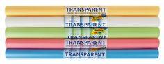 Transparentpapier, 5 Rollen pastell (50,5 x 70 cm)