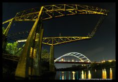 The Yellow Structure on the River [Fisheye Priojection]