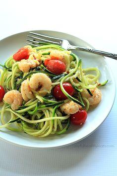 shrimp scampi + zucchini noodles