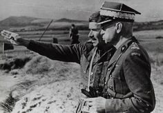 From left: Major General Stanisław Sosabowski, Commander, 1st Independent Polish Parachute Brigade (1. Samodzielna Brygada Spadochronowa); G...