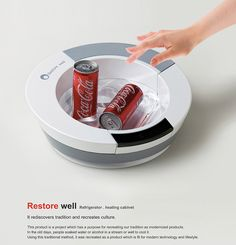 Restore Well – Ice Cold Storage Pack for Drinks by Song Kyuho. Ancient idea, new #design.