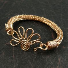 Wickwire Jewelry: Bronze Bracelets and Patinas-love the clasp Metal Jewelry, Beaded Jewelry, Jewellery, Bronze Jewelry, Maille Viking, Handmade Bracelets, Handmade Jewelry, Earrings Handmade, Viking Knit Jewelry