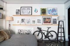 Best Advice: Picture ledges and built-in shelving! I love lots of art in a home, but one should be allowed to evolve and change their mind without paying for it every time with holes in the wall.
